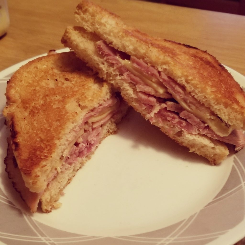 ham sandwich on great low carb bread company bread
