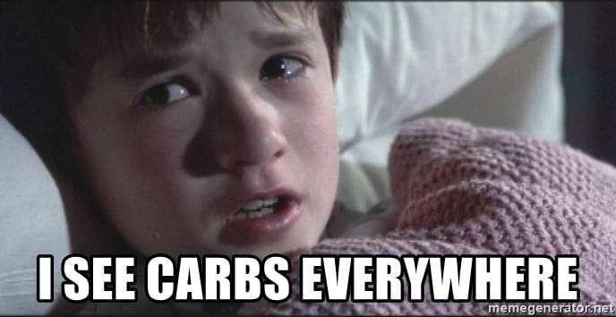 i see carbs everywhere meme