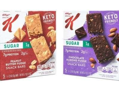 kelloggs special k keto snack bars box