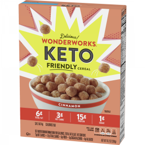 wonderworks keto friendly cereal cinnamon box