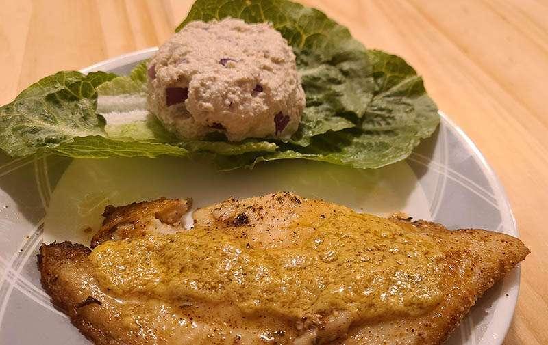 Fried Catfish with Cajun Keto Mustard
